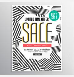 modern trendy sale poster banner design concept vector image vector image
