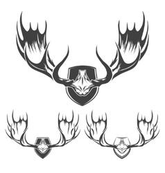 Moose Horns Set vector image