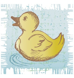 Nice small duckling vector image vector image