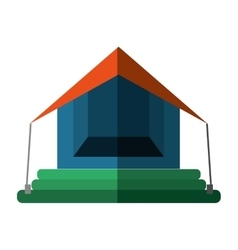 orange and blue tourism tent camping excursions vector image vector image