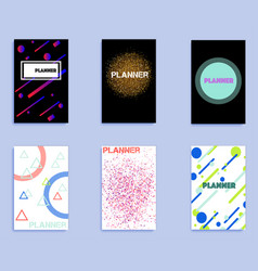set of covers with geometric shapes vector image vector image