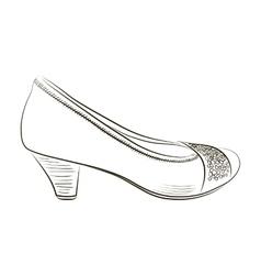 Sketch of women shoe - vector image