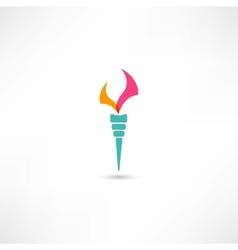 torch symbol vector image vector image