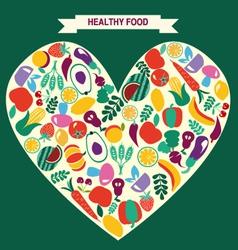 VEGETARIAN symbol Healthy Food icons vector image vector image