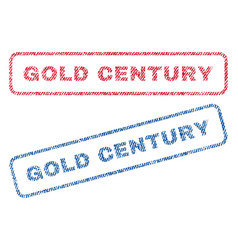 gold century textile stamps vector image vector image