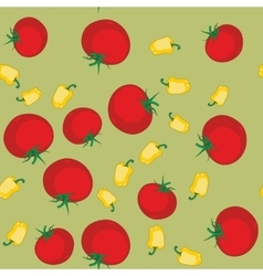 Yellow pepper and tomato seamless texture 563 vector image