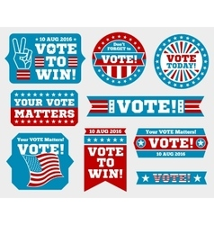 American presidential election 2016 badges and vector image