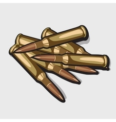 Bunch bullets image of the war theme vector image