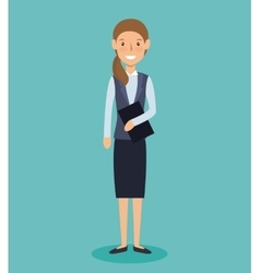 businesswoman avatar elegant icon vector image vector image