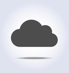 cloud flat gray icon symbol vector image vector image