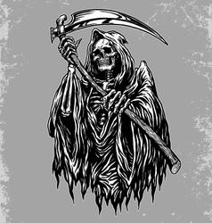 Hand Inked Grim Reaper vector image vector image