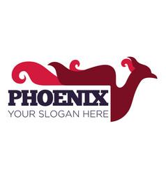 phoenix bird or fantasy eagle logo template for vector image
