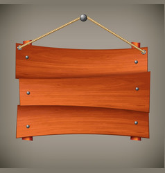 wooden board on rope vector image