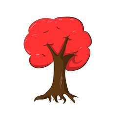 a red tree in autumn vector image