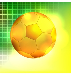 Abstract golden soccer ball background vector image vector image
