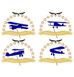 Aircraft-1 vector image