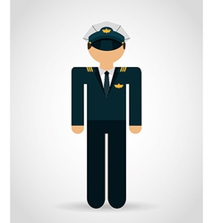 Airplane pilot vector
