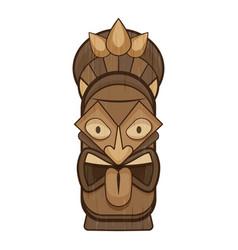 Aztec idol icon cartoon style vector