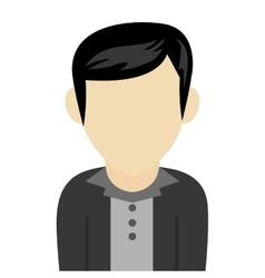 Black hair caucasian man vector