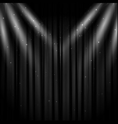 Black stage curtain background vector