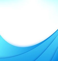 Blue business flyer wave line design template vector image
