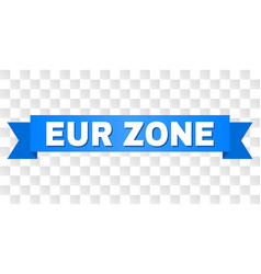 Blue stripe with eur zone title vector