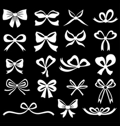 bow set white vector image
