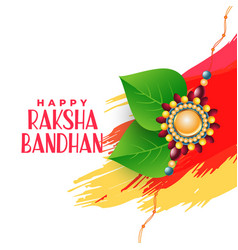 Brother and sister bonding raksha bandhan vector