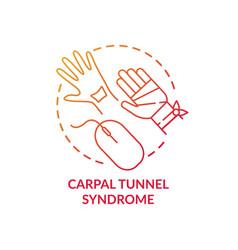 Carpal tunnel syndrome concept icon vector