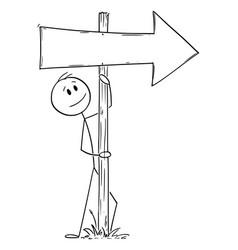 Cartoon man or businessman leaning towards old vector