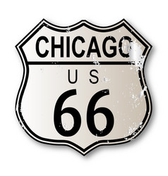 Chicago route 66 highway sign vector