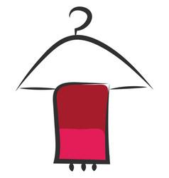 Coat hanger or color vector