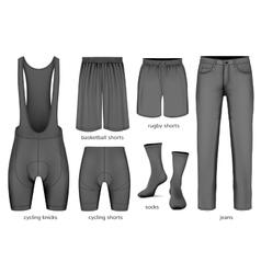 Collection of men clothes vector