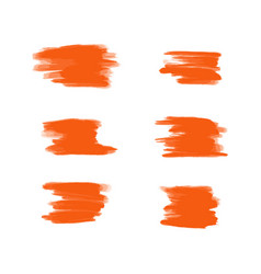 Collection of orange acrylic brush vector