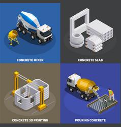 Concrete production design concept vector