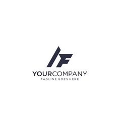 Creative and simple letter af or fa for icon vector