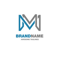creative letter m logo vector image