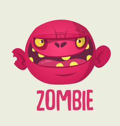 Cute cartoon zombie head vector