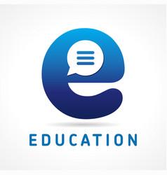 education e logo vector image