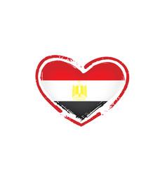 egypt flag on a white vector image