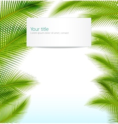 Exotic trip background vector image