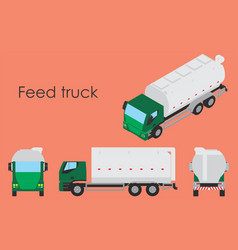 Feed truck vector