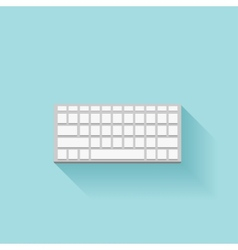 Flat keyboard icon with shadow vector image