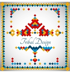 Geometric hipster tribal bright pixel design vector image