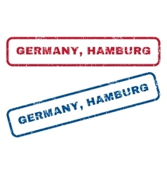 Germany hamburg rubber stamps vector