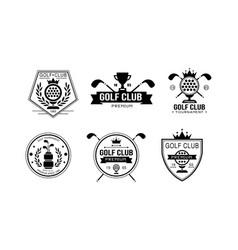 golf club premium logo golfing sport club retro vector image