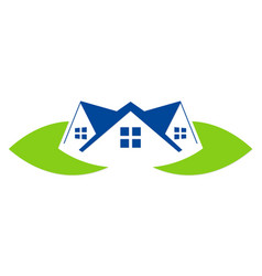 green leaf house realty company logo vector image
