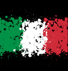 grunge blots italy flag background vector image