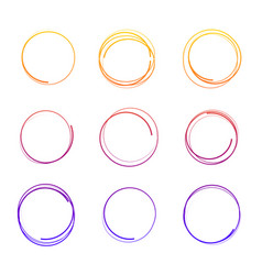 hand drawn colorful circles vector image