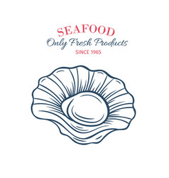 hand drawn scallops icon vector image